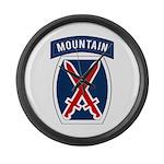 10th Mountain Large Wall Clock