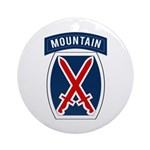 10th Mountain Ornament (Round)
