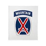 10th Mountain Throw Blanket