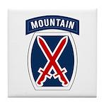 10th Mountain Tile Coaster