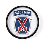 10th Mountain Wall Clock