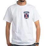 10th Mountain White T-Shirt