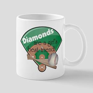 Diamonds Girl's Best Friend Mug