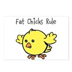 Fat Chicks Rule Postcards (Package of 8)
