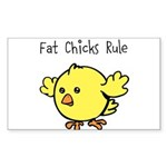 Fat Chicks Rule Sticker (Rectangle 10 pk)