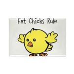 Fat Chicks Rule Rectangle Magnet