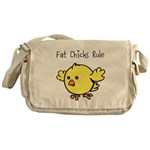 Fat Chicks Rule Messenger Bag