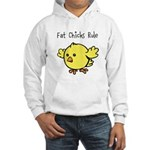 Fat Chicks Rule Hooded Sweatshirt