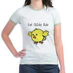 Fat Chicks Rule Jr. Ringer T-Shirt