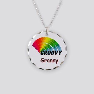 Groovy Granny Necklace Circle Charm