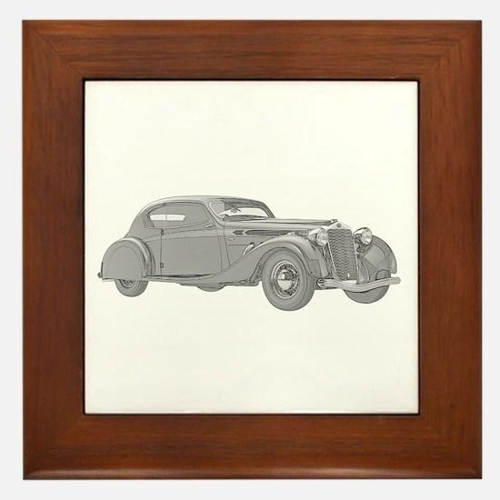 Delage Aerosport Coupe 1937 Framed Tile