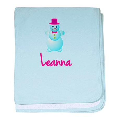 Leanna the snow woman baby blanket