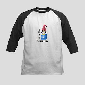Just Chillin Penguin Kids Baseball Jersey