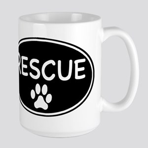 Rescue Black Oval Mugs