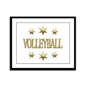 Volleyball Stars Framed Panel Print