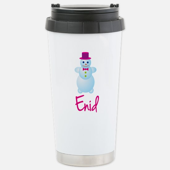 Enid the snow woman Stainless Steel Travel Mug