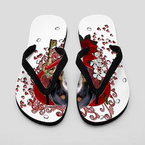 Valentines - Key to My Heart Swissie Flip Flops