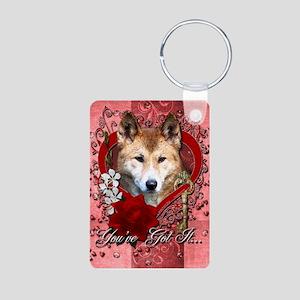 Valentines - Key to My Heart Dingo Aluminum Photo