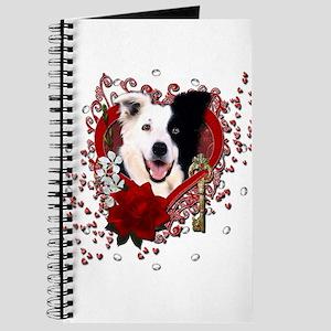 Valentines - Key to My Heart Border Collie Journal
