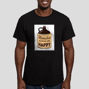 SHINE IS FINE Men's Fitted T-Shirt (dark)