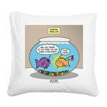 Fishbowl Rebellion Square Canvas Pillow
