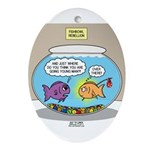 Fishbowl Rebellion Oval Ornament