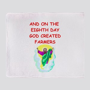 farmers Throw Blanket
