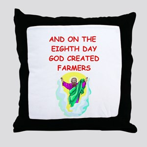 farmers Throw Pillow