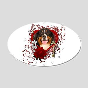 Valentines - Key to My Heart Bernie 22x14 Oval Wal