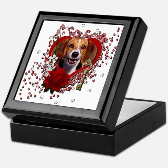 Valentines - Key to My Heart Beagle Keepsake Box