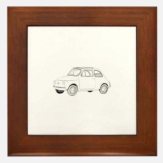 Fiat 500 Topolino Framed Tile