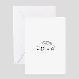 Fiat 500 Topolino Greeting Card