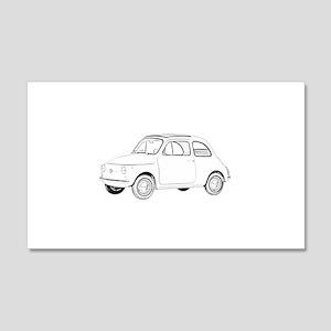 Fiat 500 Topolino 22x14 Wall Peel