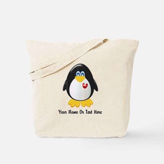 Customizable Penguin Tote Bag