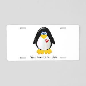 Customizable Penguin Aluminum License Plate