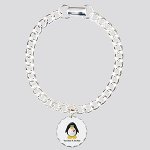 Customizable Penguin Charm Bracelet, One Charm