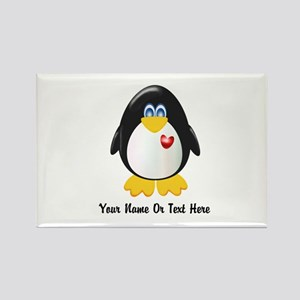 Customizable Penguin Rectangle Magnet