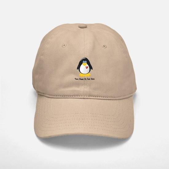 Customizable Penguin Baseball Baseball Cap