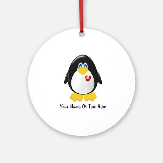 Customizable Penguin Ornament (Round)