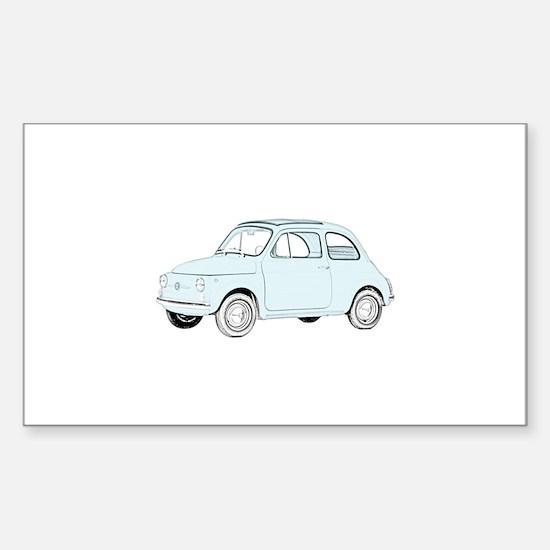 Fiat 500 Topolino Sticker (Rectangle)