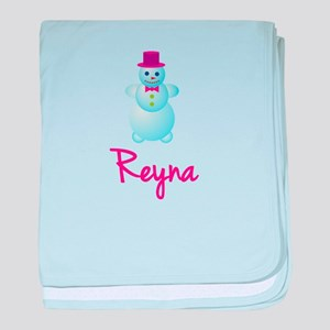 Reyna the snow woman baby blanket