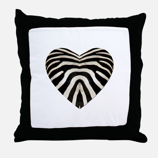 ZEBRA HEART Throw Pillow