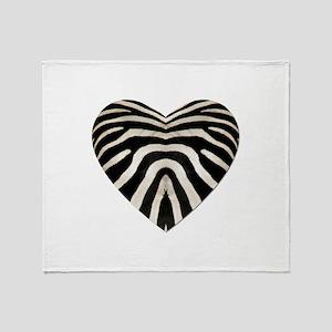 ZEBRA HEART Throw Blanket