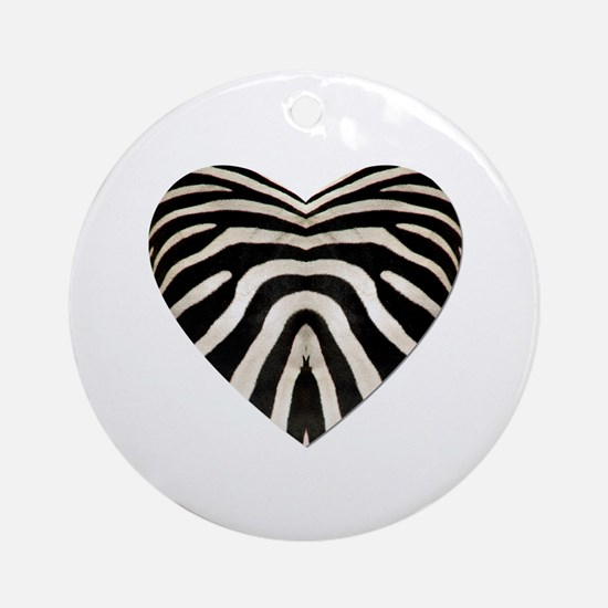 ZEBRA HEART Ornament (Round)