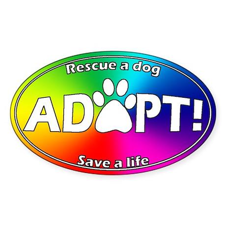 Adopt Sticker (White on Multi)