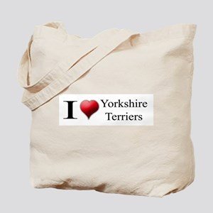 I Love Yorkshire Terriers Tote Bag