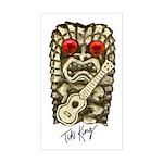 Ukulele Playing Tiki Sticker (Rectangle)