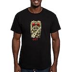 Ukulele Playing Tiki Men's Fitted T-Shirt (dark)