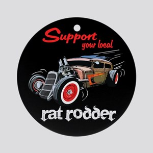 Support Local Rat Rodder Ornament (Round)