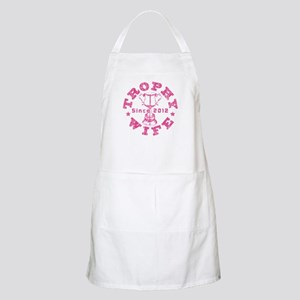 Trophy Wife Since 2012 pink Apron